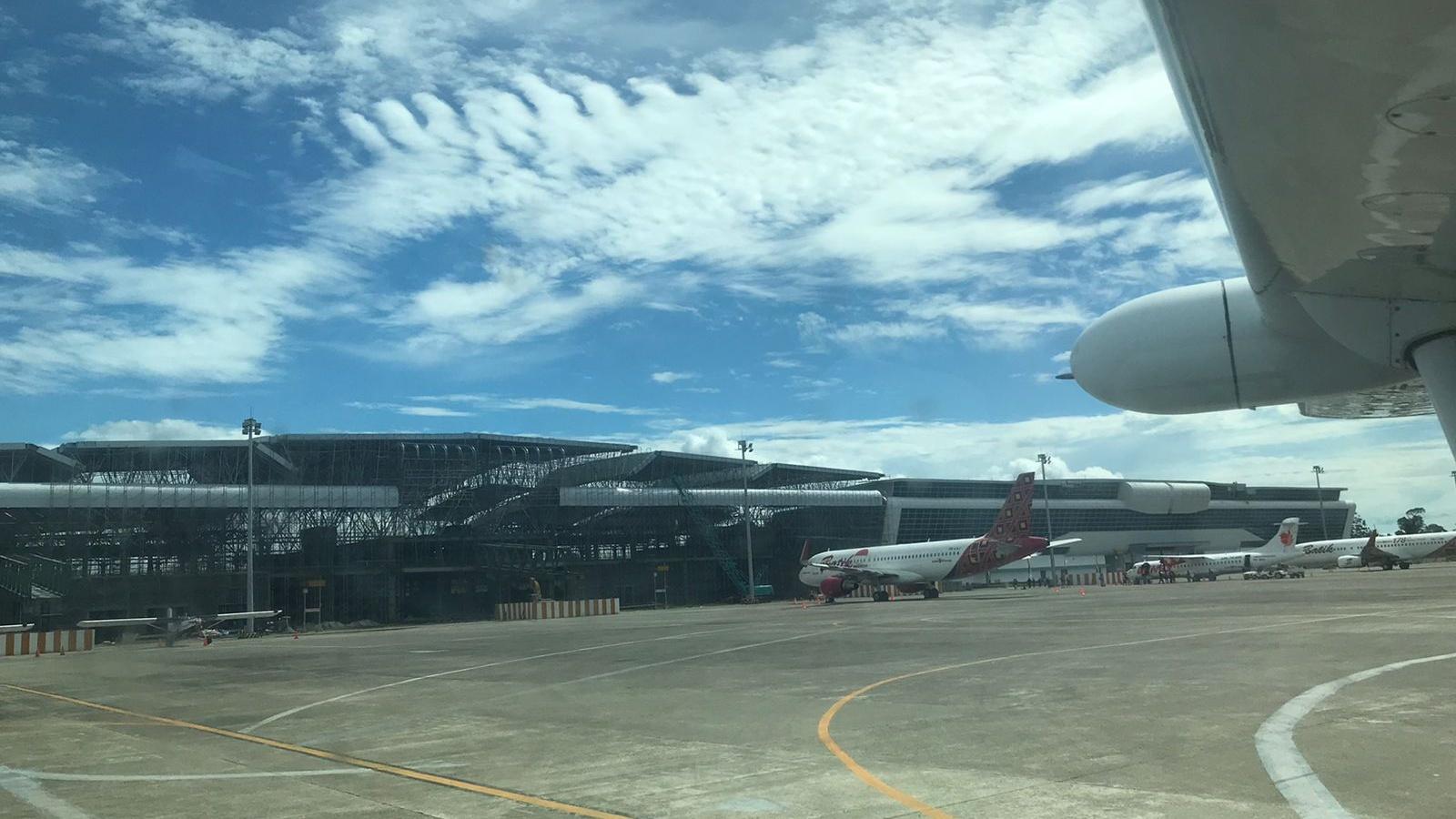 Bandara Mozes Kilangin Timika sisi Selatan.   Foto: Anti Patabang/Papua60detik