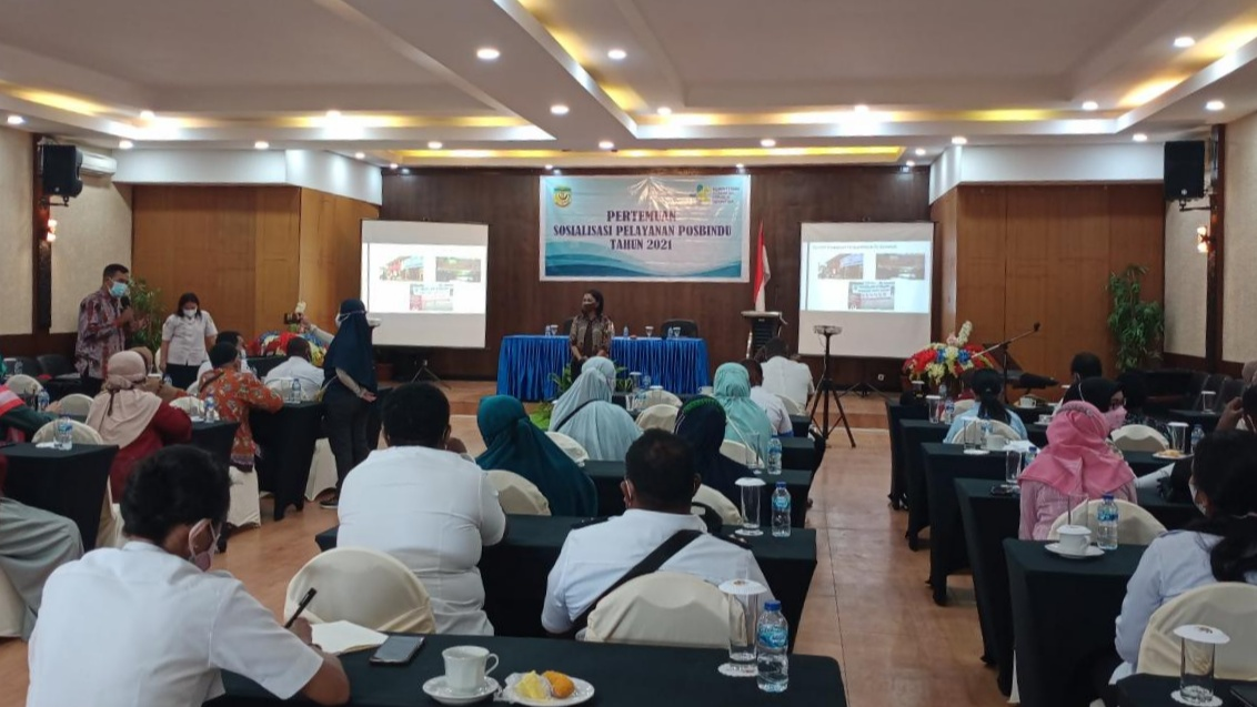 Pertemuan Sosialisasi Pelayanan Posbindu Dinkes Mimika, Rabu (19/9/2021). Foto: Fachruddin Aji/Papua60detik